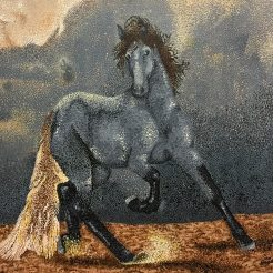 Enya Deng - Thunderous Horse created by art an art student at Pleasanton's Art Academy, Oam Studios.