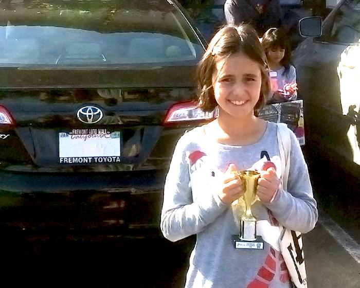 Evani wins Inter Safari Kids Art contest.