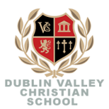 This is the coat of arms of Dublin Valley Christian Schools of California